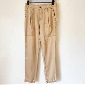 On The Road cream Picket Studded Pants
